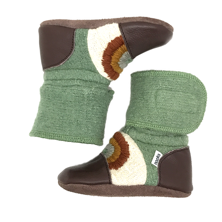 Nooks Nooks Rainbow Series Wool Booties