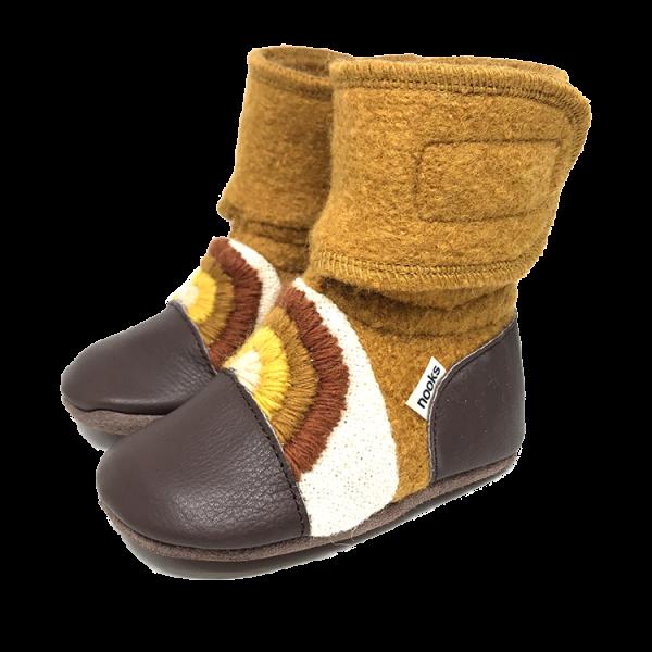 Nooks Nooks Rainbow Series Wool Booties