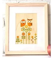 Petit Collage Wood Print