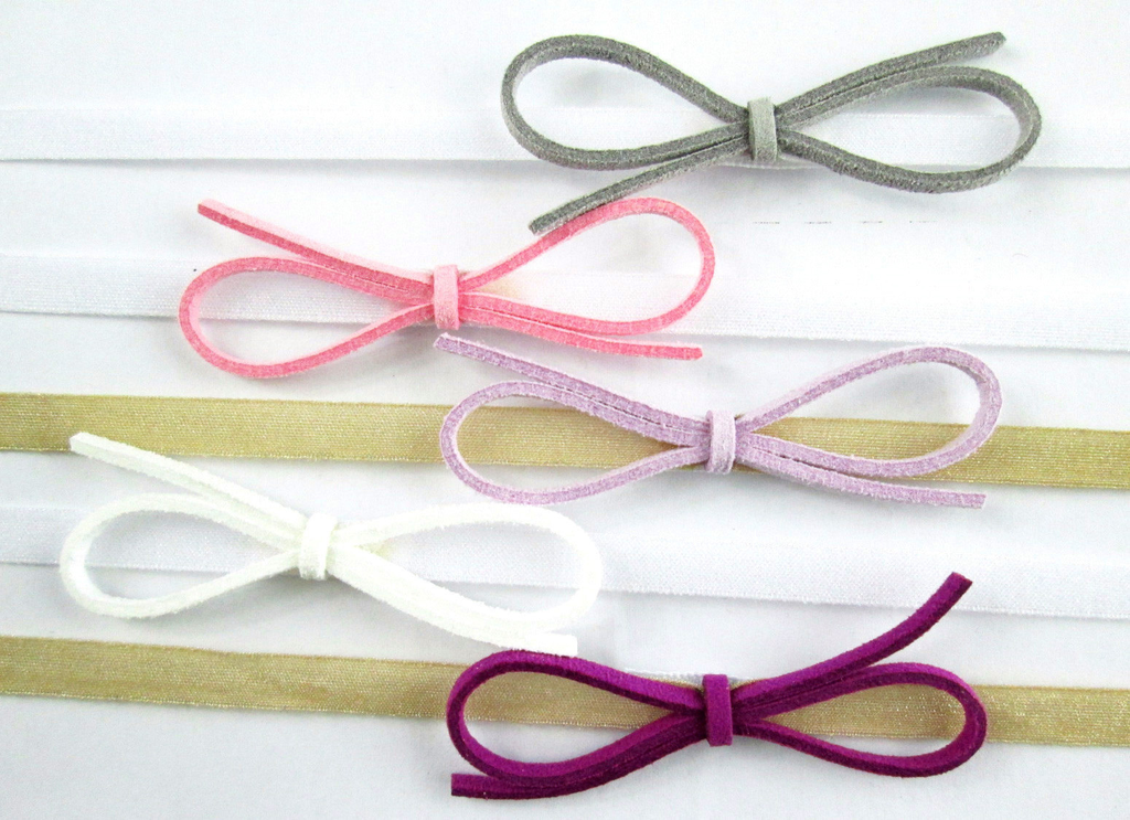 Baby Wisp Baby Wisp - Faux Suede Bow 5 pack