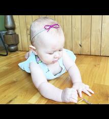 Baby Wisp Baby Wisp - Skinny Faux Suede Bow Headband 2 pack