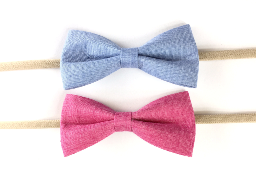 Baby Wisp Baby Wisp - Tuxedo Bow Headband 2 pack