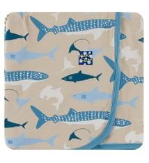 Kickee Pants Kickee Pants Oceanography Swaddling Blanket