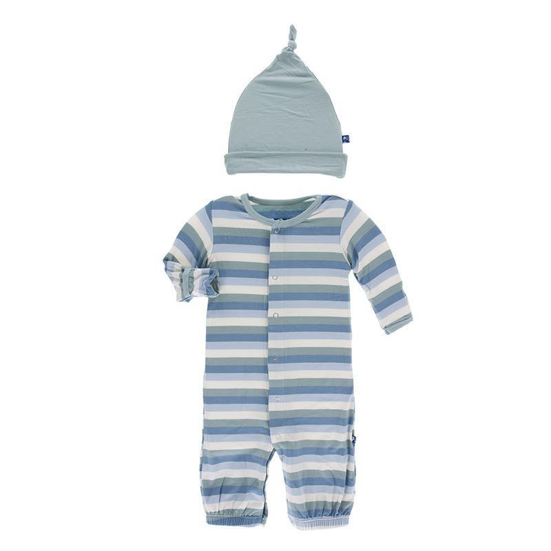 Kickee Pants Kickee Pants Oceanography Gown Converter & Hat Set
