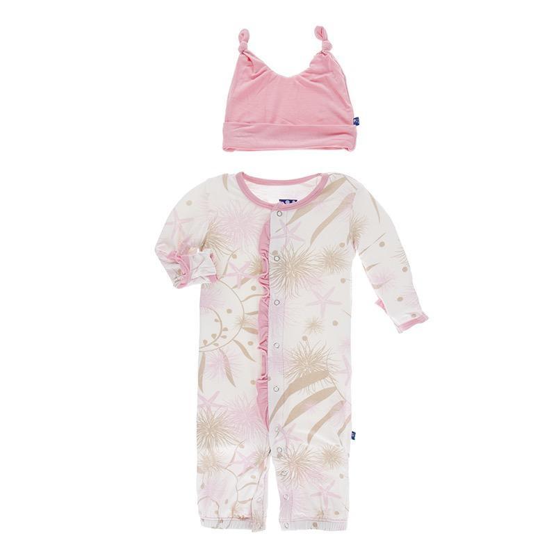 Kickee Pants Kickee Pants Oceanography Ruffle Gown Converter & Hat Set