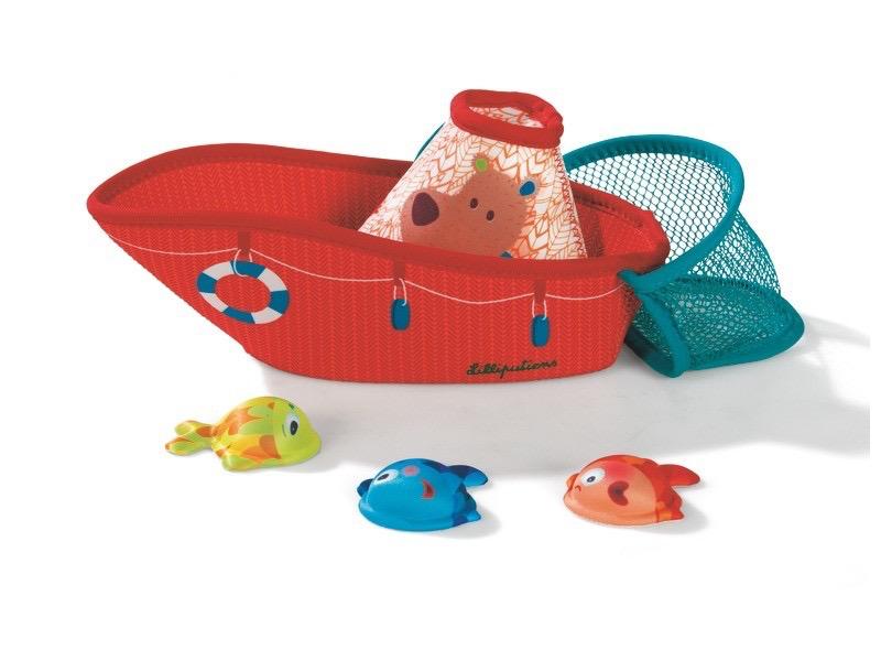 Lilliputiens Lilliputiens Fishing Boat Bath Toy