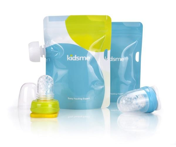 Kidsme Kidsme Reusable Food Pouch with Adapter Set