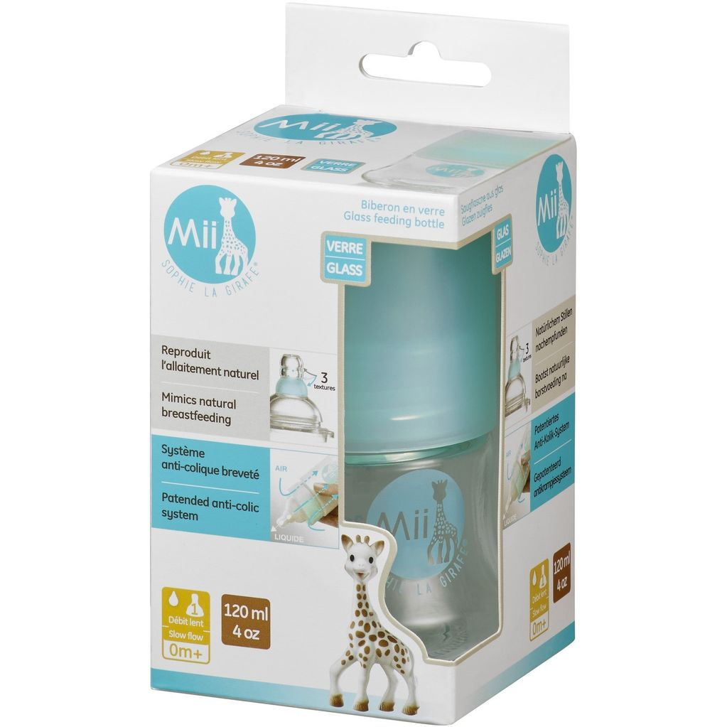 Mii Mii Feeding Bottles - 4 oz. Glass
