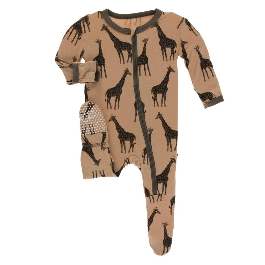 Kickee Pants Kickee Pants Kenya Footie w/ zipper