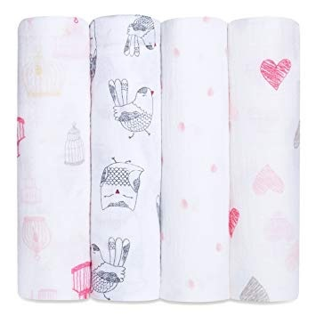 Aden & Anais Aden & Anais Single Layer Swaddling Blankets - 4 Pack