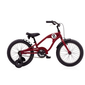 "Electra Straight 8 1 16"" Red Boys'"