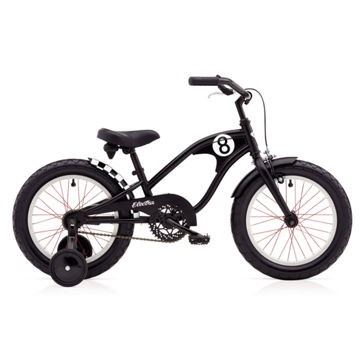 "Electra Straight 8 1 16"" Black Boys'"
