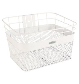 Electra Linear Mesh Basket White