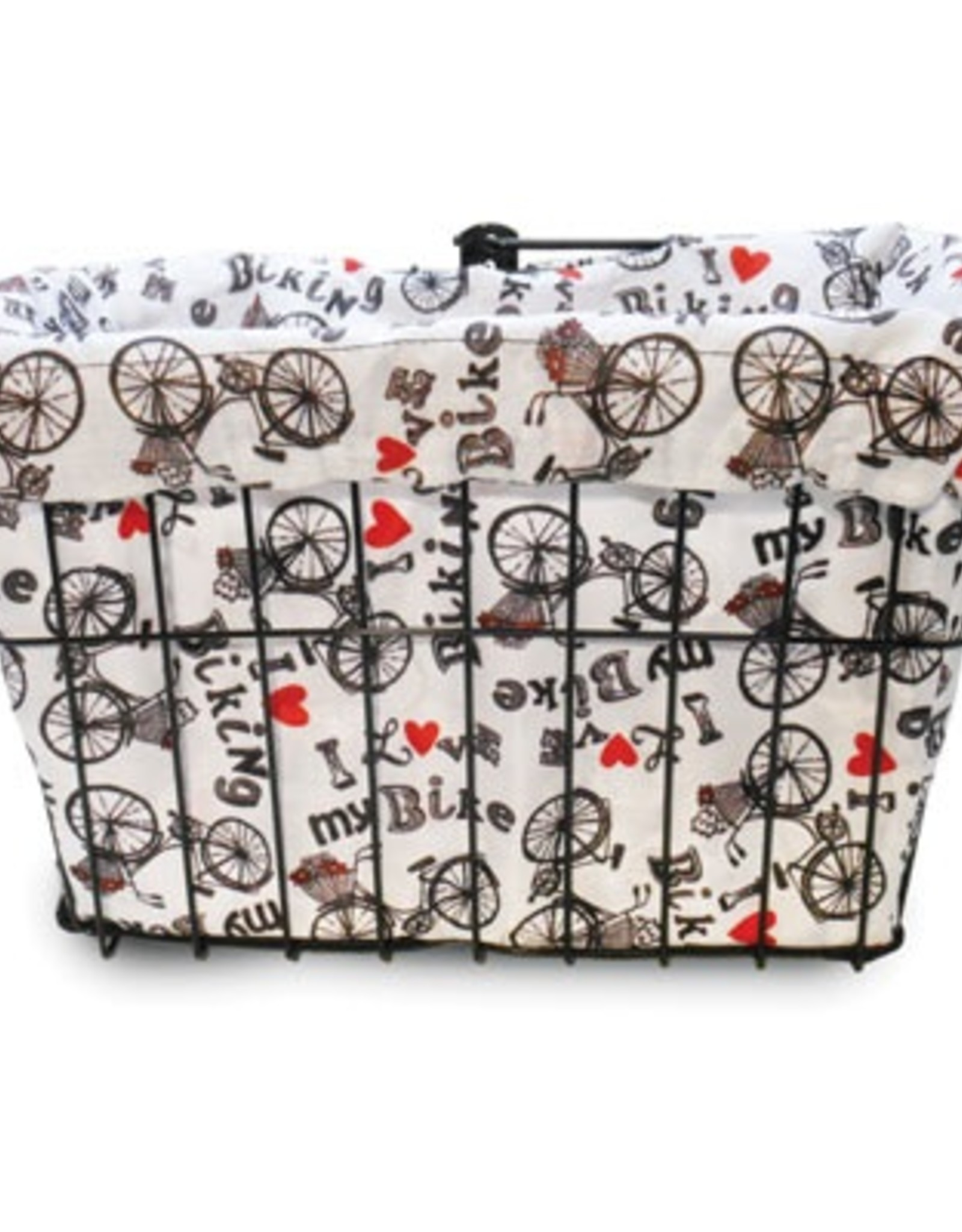 Cruiser Candy I Love My Bike Basket Liner