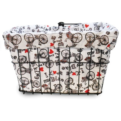 Cruiser Candy I Love My Bike Basket Liner