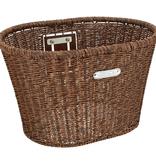 Electra Basket Electra Plastic Woven Dark Brown