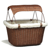 Solvit Solvit Pet Wicker Basket Brown w/ Sun Shade