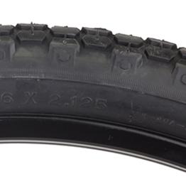 Pyramid Sunlite Kenda 26x2.125 knobby tire blk/blk 40 psi
