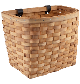 J & B Importers Sunlite Wood Woven Basket Beech Natural