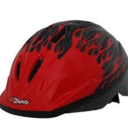 J & B Importers Kidzamo Helmet SM-MD Flame RED/BLACK