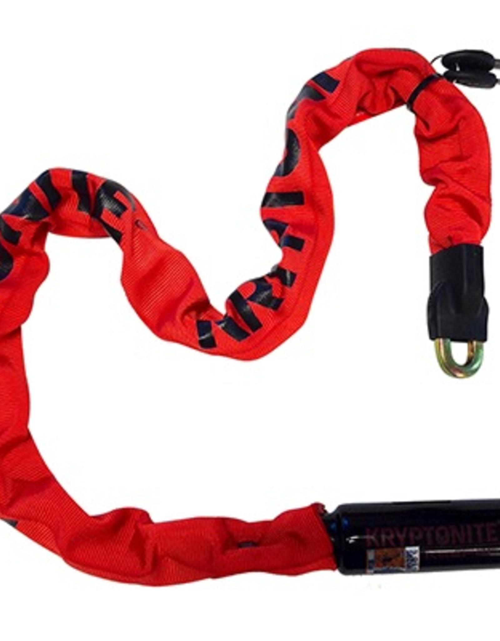 Kryptonite Kryptonite Keeper 785 Integrated Chain Lock, 3 Feet, Red
