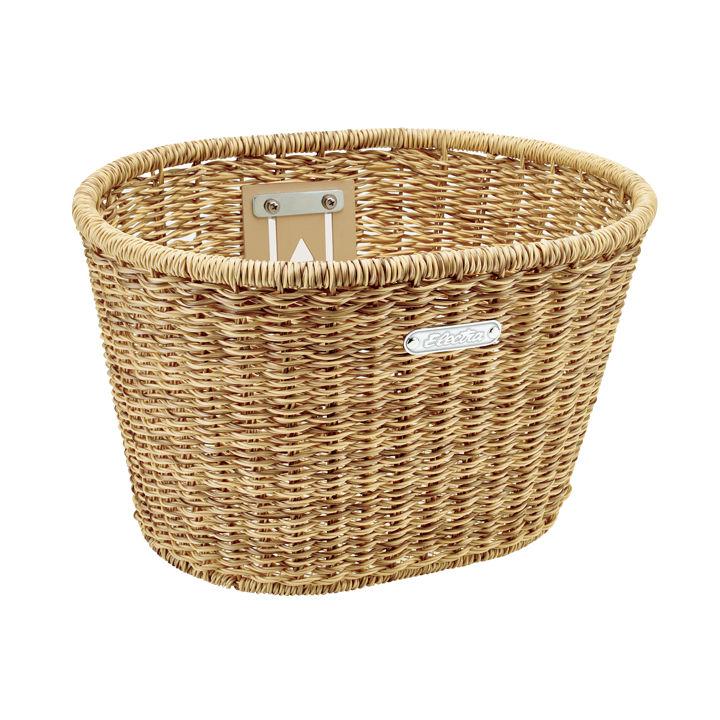 Electra Basket Electra Plastic Woven Light Brown