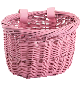J & B Importers Sunlite Mini Willow Basket, Pink