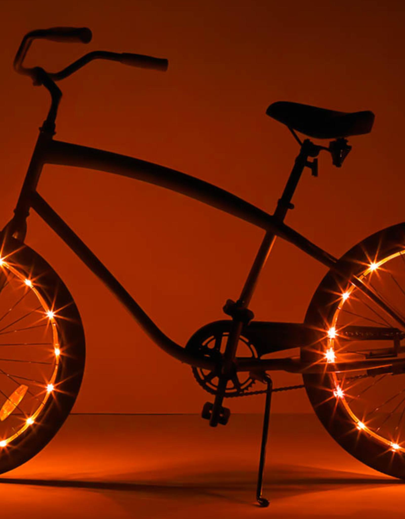 Brightz, Ltd. Wheel Brightz LED Lights Orange (ONE WHEEL)