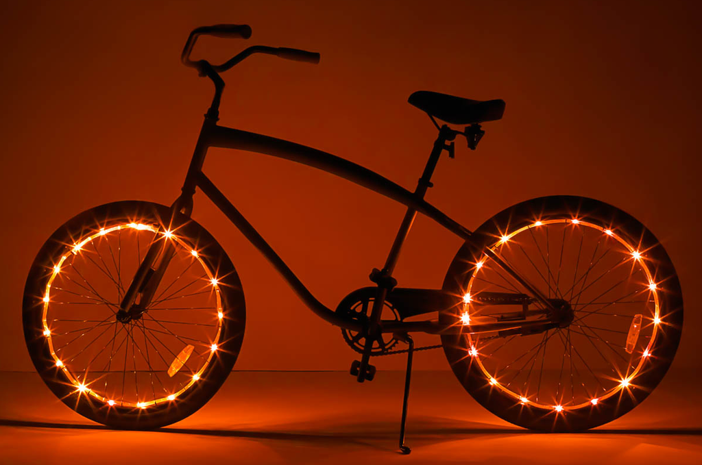 Brightz, Ltd. Wheel Brightz LED Lights Orange (ONE WHEEL)