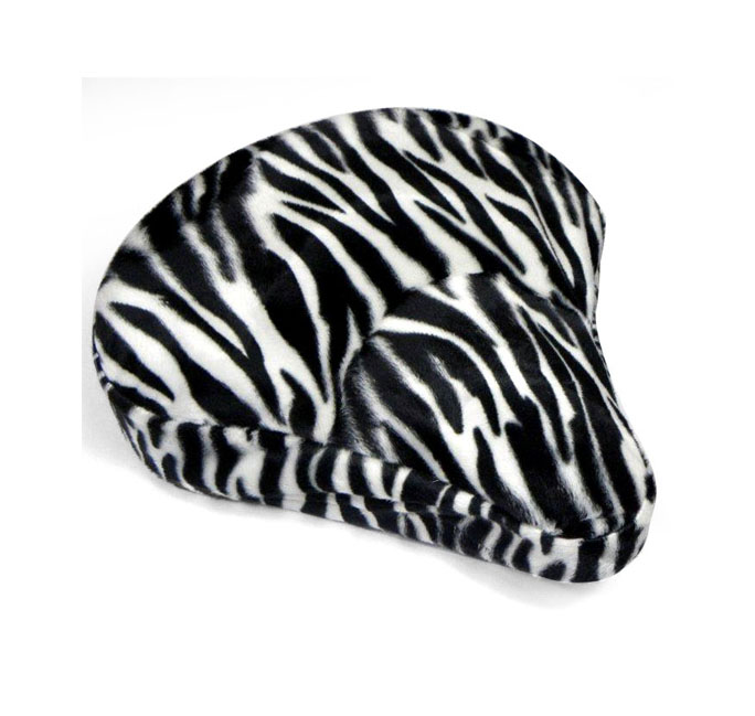 Cruiser Candy White Zebra Bike Seat Cover