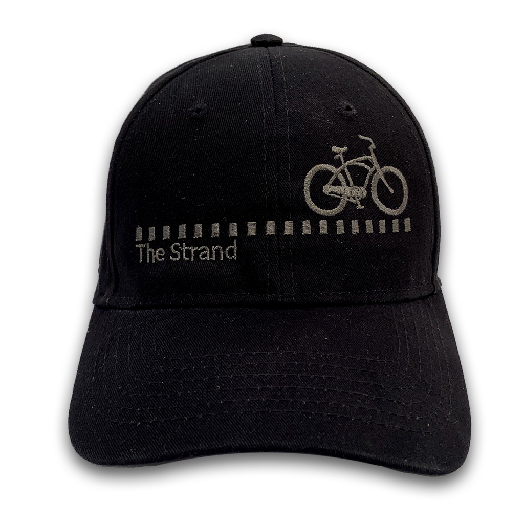 Hermosa Cyclery Hermosa Cyclery - The Strand, All Black, Structured Low-Profile Black Hat - Fahrenheit 256