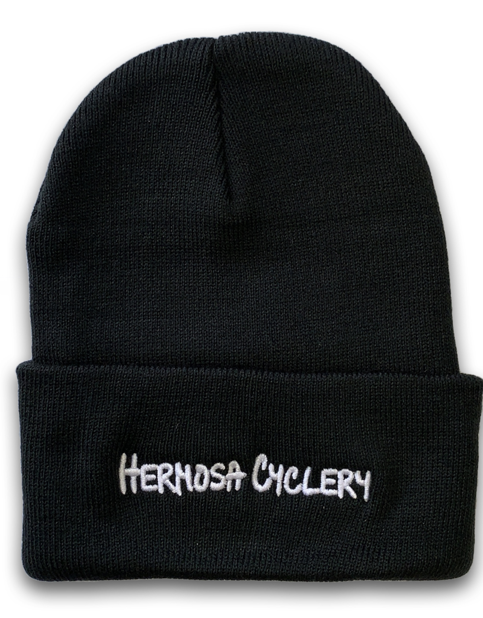 Hermosa Cyclery Hermosa Cyclery - Beanie, Long Knit Black Acrylic