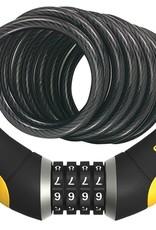 OnGuard OnGuard Doberman,black/silver 8032 resettable combo lock, 10mm