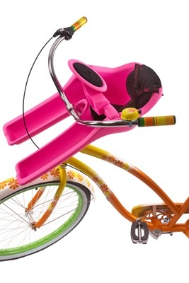 J & B Importers iBert Safe-T Front Mounted Child Bicycle Seat Pink 38lb max