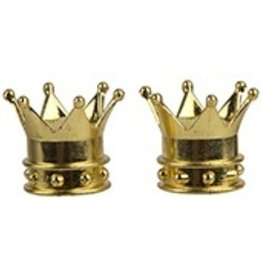 Triktopz Triktopz Gold Crown Valve Caps