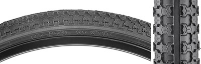 IRC Sunlite 26x1.75 MTB Raised Center Tire, Black/Black