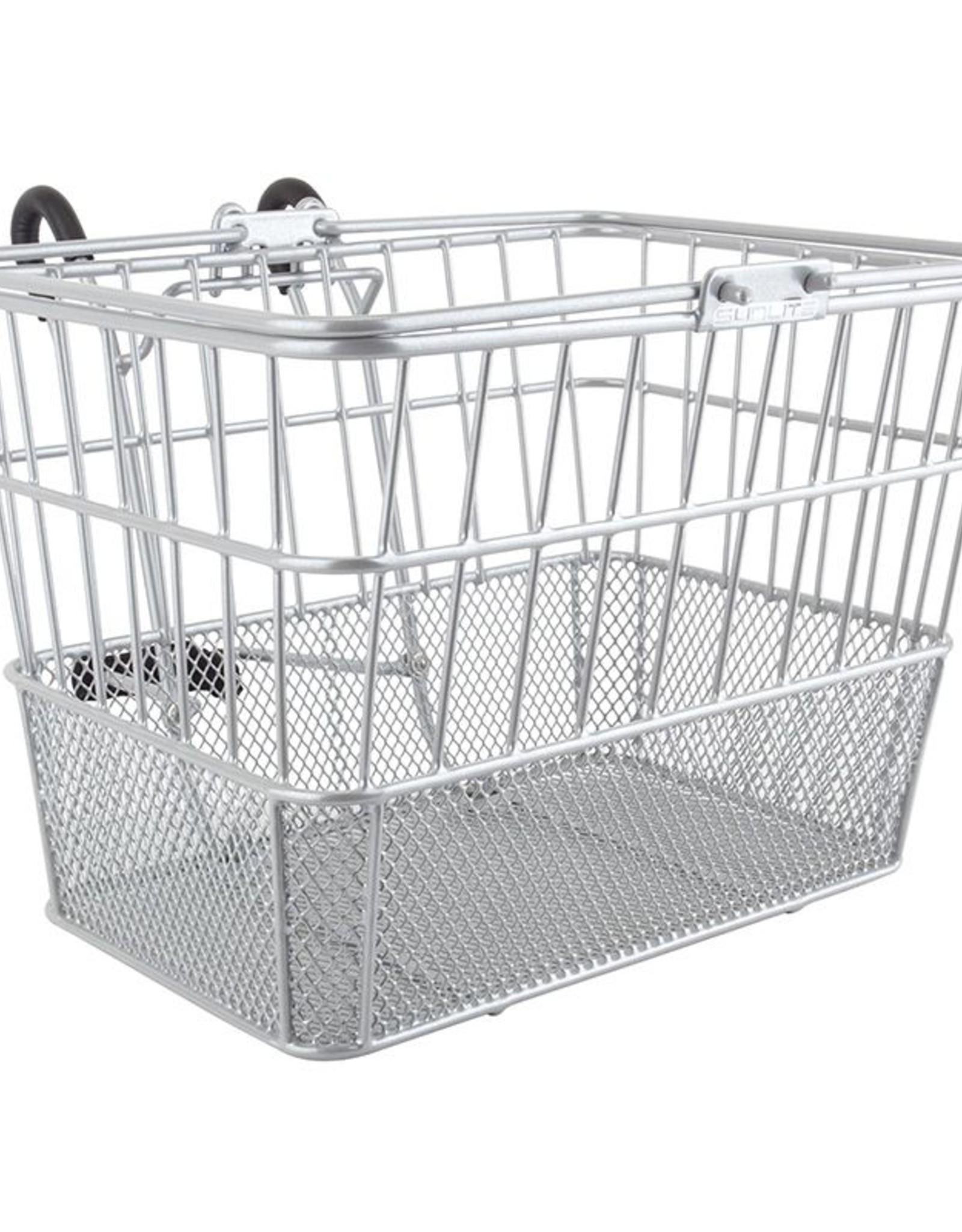 SunLite SunLite/ultracycle Mesh Bottom Lift-Off Basket Silver