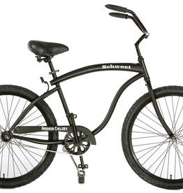 Hermosa Cyclery Schu-eet - Aluminum 7-Speed Cruiser, Men's, Matte Black