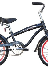 """Firmstrong Firmstrong Bruiser Mini 16"""", red rims, Kids', Black"""