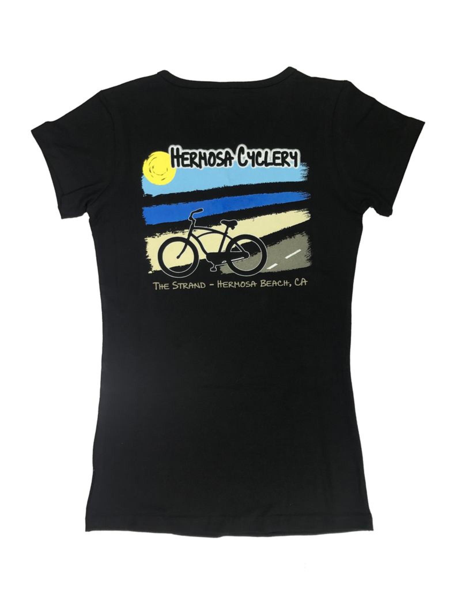 Hermosa Cyclery Hermosa Cyclery T-Shirt, Ladies' V-Neck