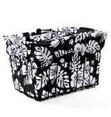 Cruiser Candy Black White Hibiscus Basket Liner
