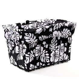 Cruiser Candy Black White Hibiscus Basket Liner