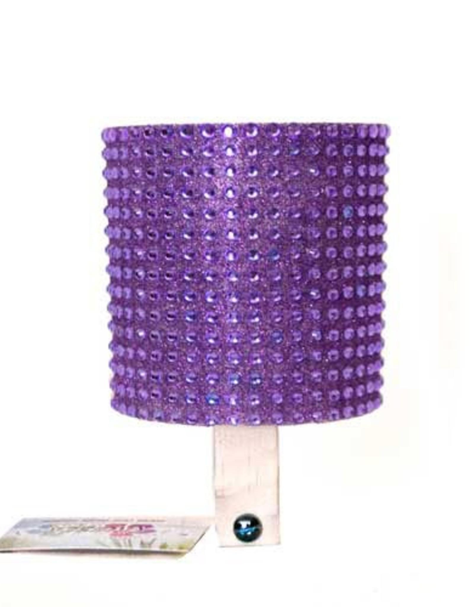 Cruiser Candy Purple Rhinestone Drink Holder