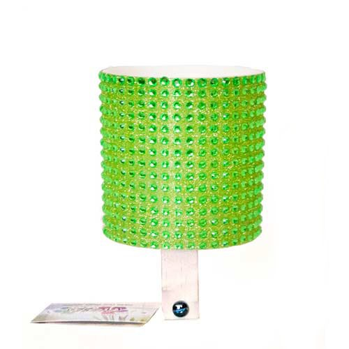 Cruiser Candy Green Rhinestone Drink Holder
