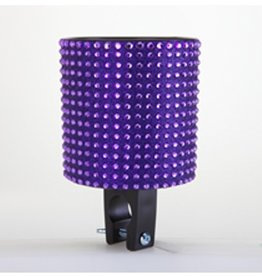 Cruiser Candy Purple Black Rhinestone Drink Holder