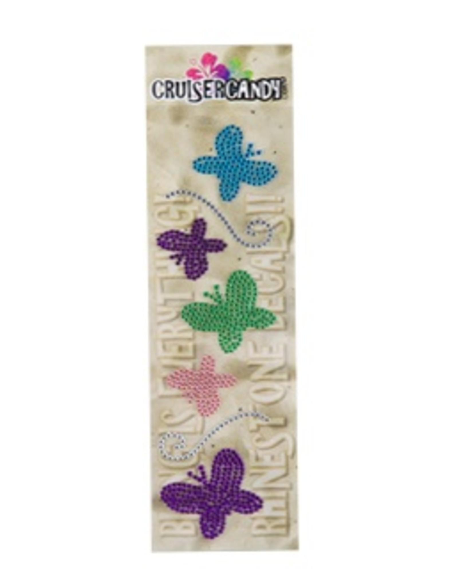 Cruiser Candy Butterfly Rhinestone Decals