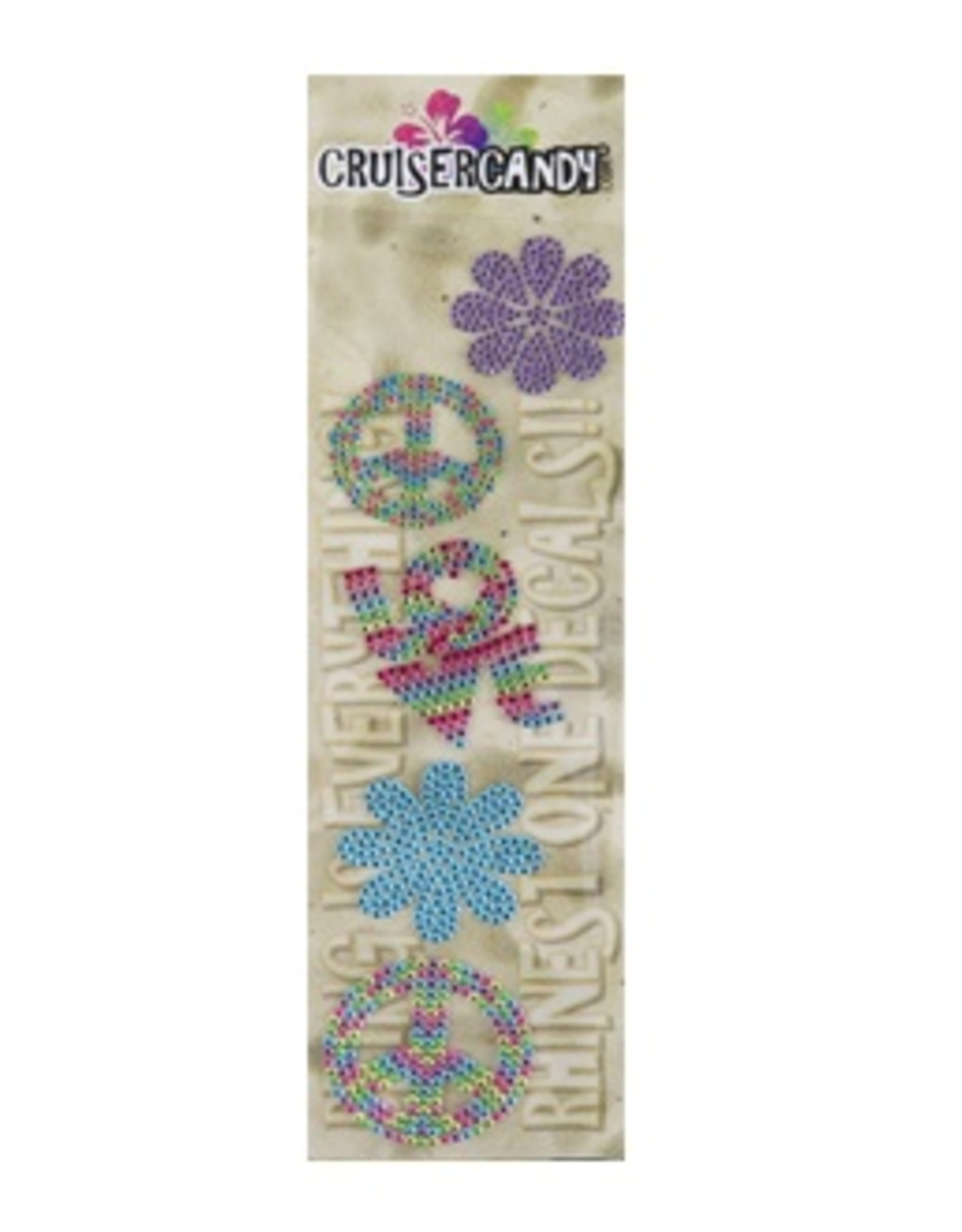 Cruiser Candy Peace Rhinestone Decals