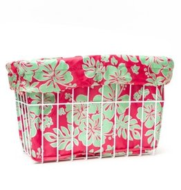 Cruiser Candy Coral Ray Hibiscus Basket Liner