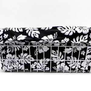 Cruiser Candy Large Basket Trike Liner - Black & White Hibiscus