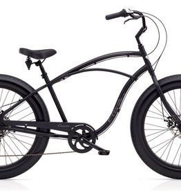 Electra Electra Cruiser Lux Fat Tire 7D, Mens', Matte Black